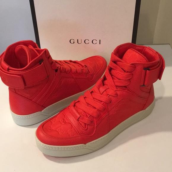 e77b894cb Gucci Shoes | New Nylon Gg Ssima Red High Top Sz 11 | Poshmark